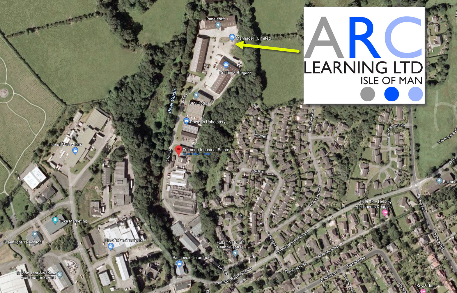 ARC Learning Isle of Man Location Map